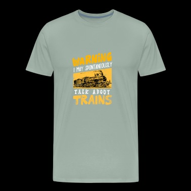 Trains Locomotive Steam Locomotive Railroad track - Men's Premium T-Shirt