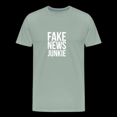 Anti-Trump Fake News Junkie - Men's Premium T-Shirt