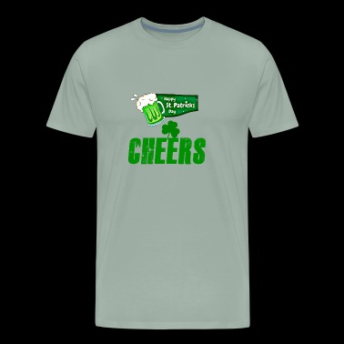 st patrick' s day cheers - Men's Premium T-Shirt