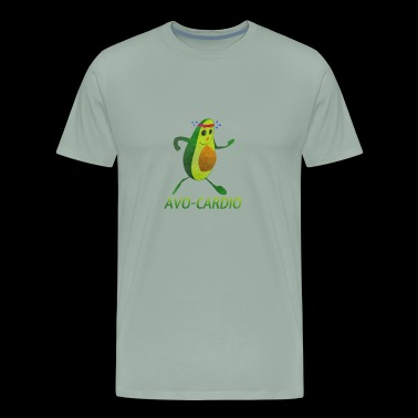 Avo-Cardio watercolor Funny Running - Jogging - Tr - Men's Premium T-Shirt