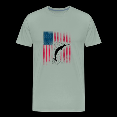 american fish Angeln fisherman Angler Haken Fisch - Men's Premium T-Shirt