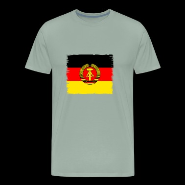 ddr germany east GDR flag retro wall emblem - Men's Premium T-Shirt