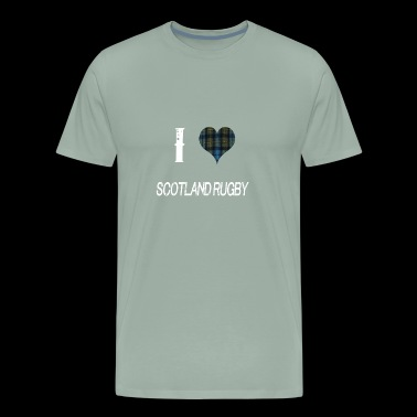 I love Scotland Rugby for the Proud Scot heart - Men's Premium T-Shirt