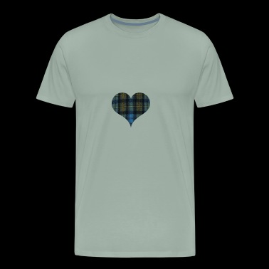 It s In My DNA for the Proud Scot heart Plaid Shir - Men's Premium T-Shirt
