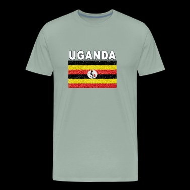 uganda flag stained glass effect design - Men's Premium T-Shirt