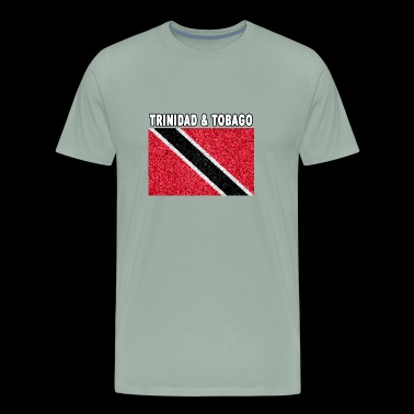 trinidad and tobago flag stained glass design - Men's Premium T-Shirt