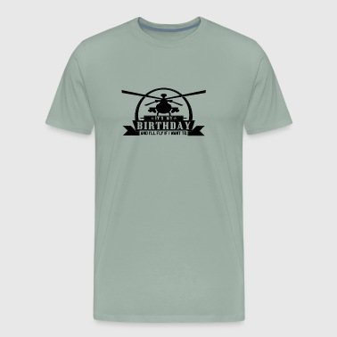 It's my birthday and I'll fly if I want HELI SHIRT - Men's Premium T-Shirt
