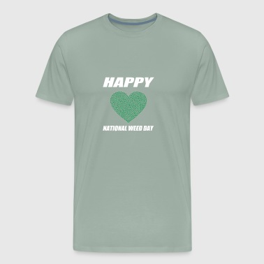 Heart Happy National Weed Day - Men's Premium T-Shirt