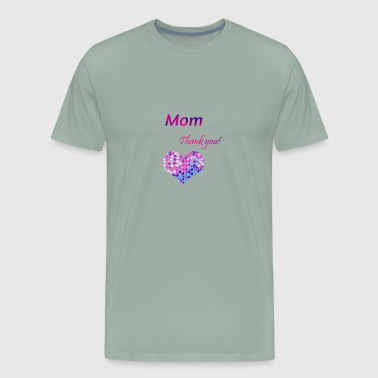 Thank you! Mother's Day Mom T shirt heart corazon - Men's Premium T-Shirt