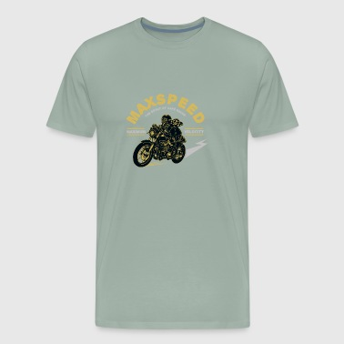 Max Speed the spirit of café racer - Men's Premium T-Shirt