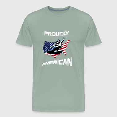 Proudly American Snowboarding T Shirts And Hoodies - Men's Premium T-Shirt