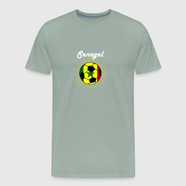 Senegal Soccer design Senegalese Flag World Soccer - Men's Premium T-Shirt