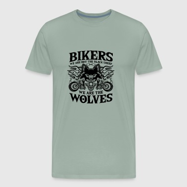 Bikers - wolves, not black sheep - Gift - Men's Premium T-Shirt