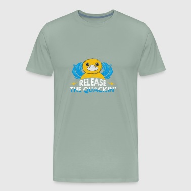 Hilarious duck shirt - Release the quackin - Men's Premium T-Shirt