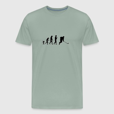 Ice hockey evolution, #Ice hockey - Men's Premium T-Shirt