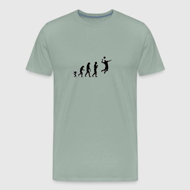 Volleyball man evolution, #Volleyball man - Men's Premium T-Shirt