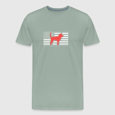 American Flag | Cute Pet Chihuahua Dog - Men's Premium T-Shirt