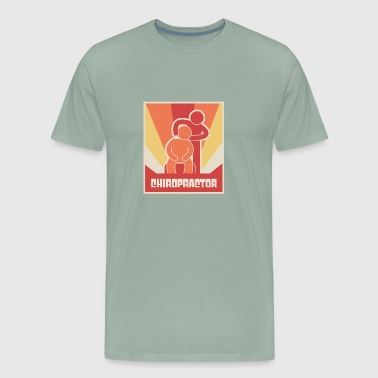Retro Chiropractor Chiropractic Massage - Men's Premium T-Shirt