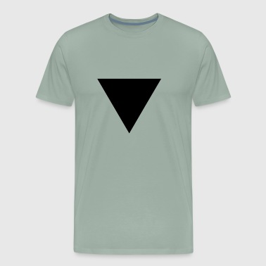 BLACK TRIANGLE GEOMETRIC SHAPE SHIRT - Men's Premium T-Shirt