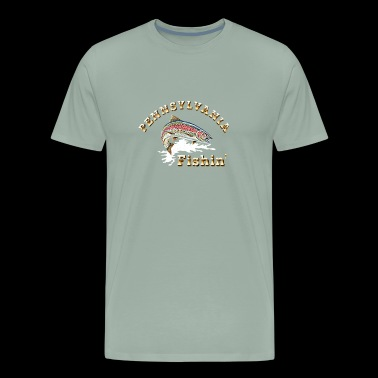 Pennsylvania Fishing - Men's Premium T-Shirt