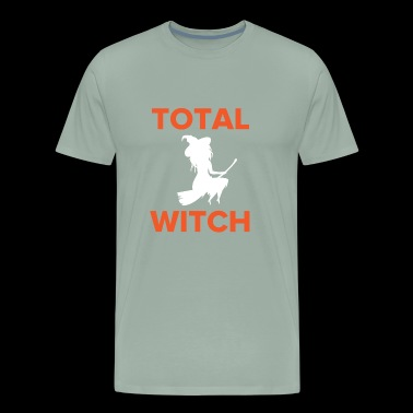 Total Witch Riding on a Broomstick for Halloween - Men's Premium T-Shirt