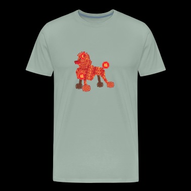 Poodle Firecracker for Lunar Chinese New Year - Men's Premium T-Shirt
