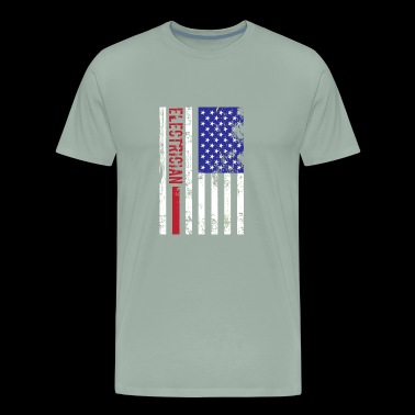 Electrician US FLag - Men's Premium T-Shirt