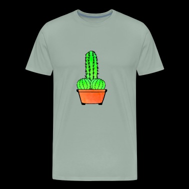 Provocative Cactus and Aloe - Men's Premium T-Shirt