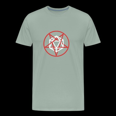 Satanic d20 Pentagram | Roleplaying Game - Men's Premium T-Shirt