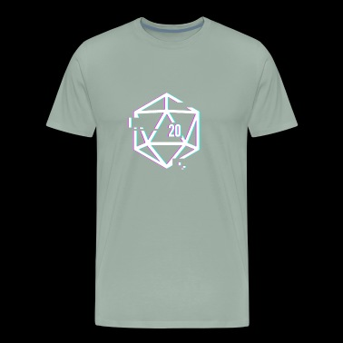 Glitched d20 | Roleplaying Board Game - Men's Premium T-Shirt