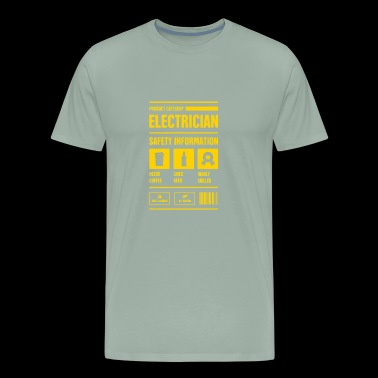 Electrician Safety Information - Men's Premium T-Shirt