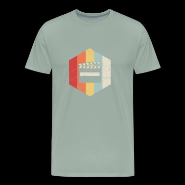 Retro Director Filmmaker Graphic - Men's Premium T-Shirt
