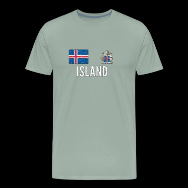 Iceland Soccer Jersey Vintage World Football Cup - Men's Premium T-Shirt
