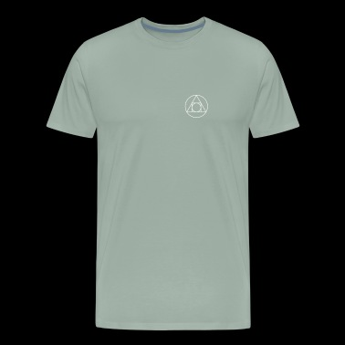 Circle Triangle Square Symbol - Alchemy - Men's Premium T-Shirt