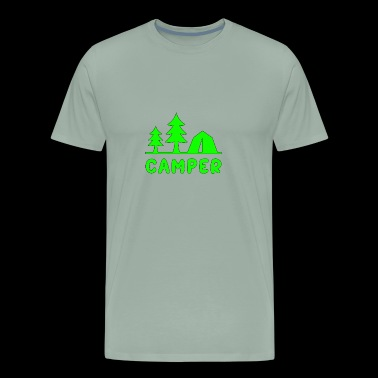 Camper Green Tent Trees - Men's Premium T-Shirt