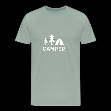 Camper Tents Trees Outdoors - Men's Premium T-Shirt