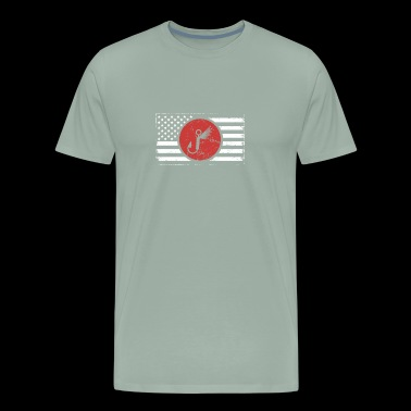 American Flag | Fly Fishing Lure - Men's Premium T-Shirt