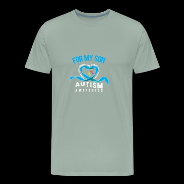 For My Son: Autism Awareness - Men's Premium T-Shirt