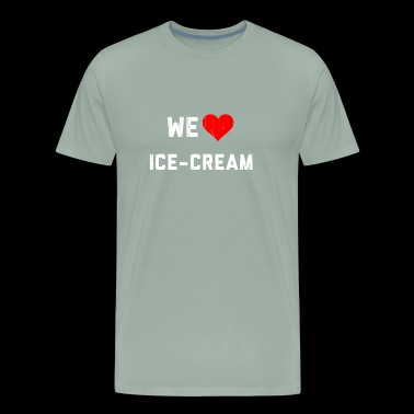 We Heart Ice-Cream - Hearbeat - Men's Premium T-Shirt