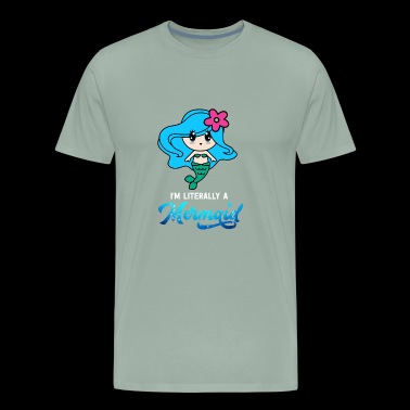 Mermaid Sea Sealife Lovely Fish Lovely Gift Fin - Men's Premium T-Shirt
