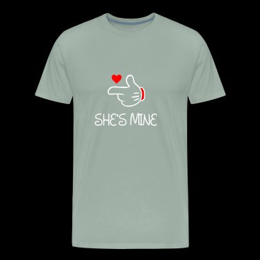 Mouse Finger Hands She's Mine - Men's Premium T-Shirt
