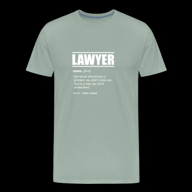 Lawyer Definition - Someone who solves a problem - Men's Premium T-Shirt
