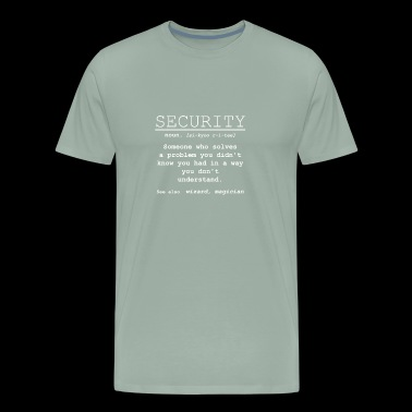 Security Definition - Someone who solves a problem - Men's Premium T-Shirt