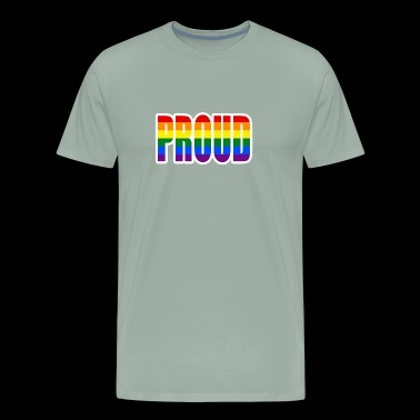 Proud Gay Pride LGBTQ Parade Rainbow Support Right - Men's Premium T-Shirt