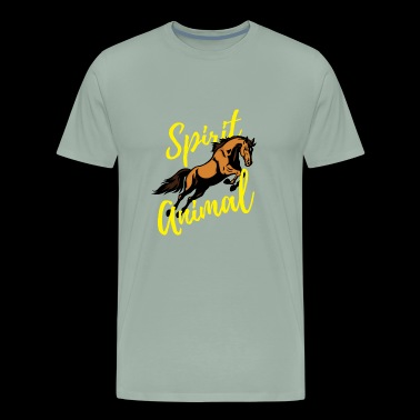 Horse Spirit Animal for Horseback Riders - Men's Premium T-Shirt