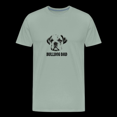 Bulldog Dad English Bulldog - Men's Premium T-Shirt