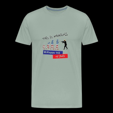 This is america 4th of july trump evolution - Men's Premium T-Shirt