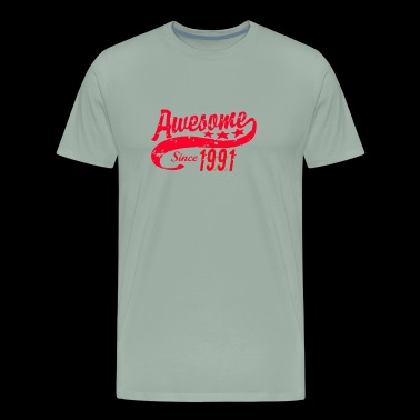 Awesome Since 1991 27 Years Old Birthday - Men's Premium T-Shirt