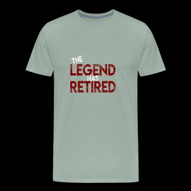 The legend has retired Funny retirement - Men's Premium T-Shirt