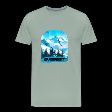 Everest Mountain - Men's Premium T-Shirt
